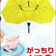 サンコーレアモノショップ【がっちりニコイチ傘】2本の傘がそのまま1本の傘に!横雨に強いがっちりした傘です!