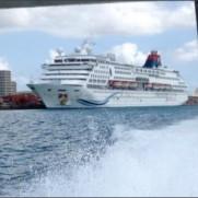 "TAHOのTは提督のTさんはTwitterを使っています: ""石垣港になんかでかい客船が入港してる http://t.co/ZRndLIh6ak"""