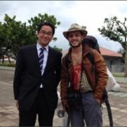 """花咲宏基さんはTwitterを使っています: """"YOUは何しに日本へ?で、北海道〜沖縄のヒッチハイクの旅を密着取材を受けているイスラエル人のオメルさんを、たまたま、沖縄でピックアップ。..."""
